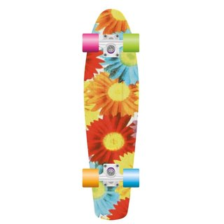 PROHIBITION Retro Plastic Skateboard 28 Sunflower